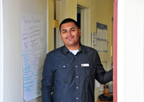 Case Manager Pascual Morales of Restorative Justice Partners, Inc. at their offices in Marina, CA.